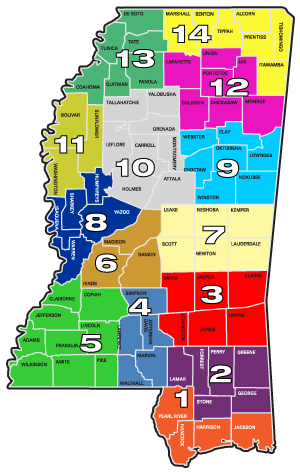 District Inspector Map Mississippi Department Of Agriculture And - Ms map