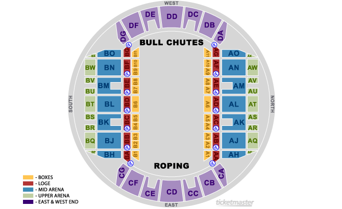 Mississippi Coliseum - Rodeo Configuration