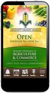Mississippi Farmers Market Mobile App
