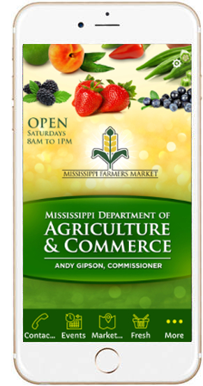 Mobile App For The Mississippi Farmers Market Mississippi Department Of Agriculture And Commerce