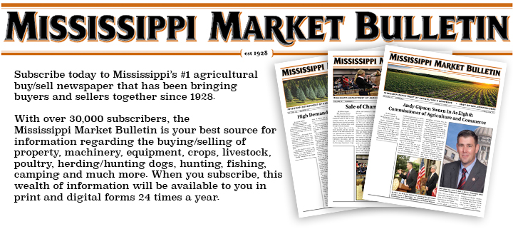 Mississippi Market Bulletin Mississippi Department Of Agriculture And Commerce